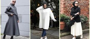 Tesettürlü Bayanlar İçin Kış Sokak Modası