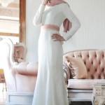 ala tesettür beyaz elbise