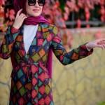 Minel Aşk karışık renkli ceket modelleri