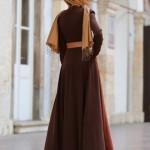 pınar şems kahverengi elbise modelleri