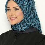 akel siyah mavi eşarp modelleri
