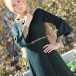 iz otantik yeşil elbise modelleri