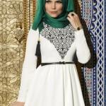müslüma wear özel nakışlı elbise modelleri