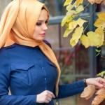 müslüma wear düğmeli elbise modelleri