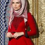 müslüma wear kırmızı abiye modelleri
