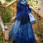 müslüma wear lacivert elbise modelleri