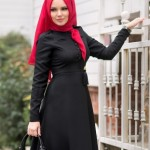 müslüma wear siyah tesettür elbise modelleri