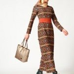 puane etnik desenli elbise modelleri