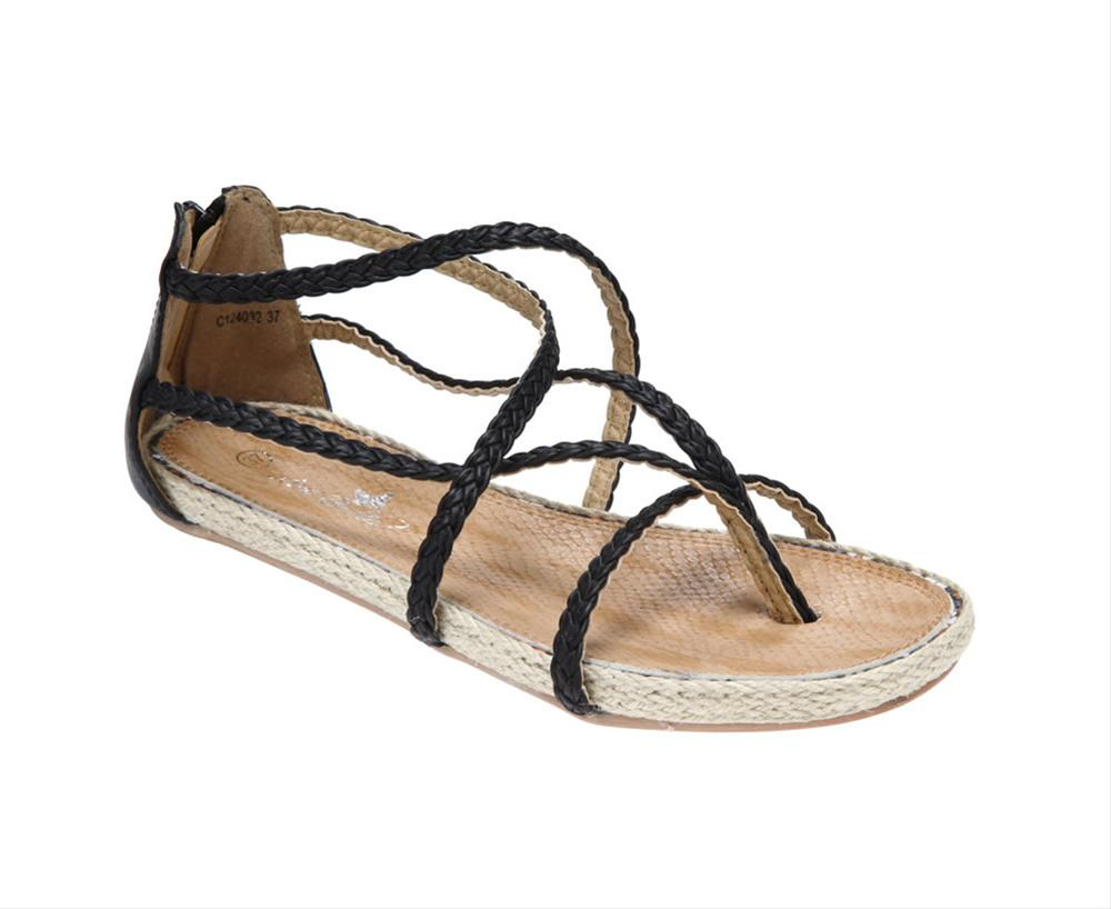 siyah sandalet modeli