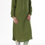 yeşil salaş elbise modeli