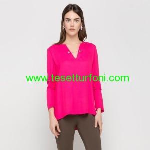 fuşya bluz modeli