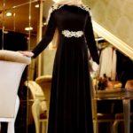 Siyah kayınvalide nişan kıyafeti