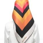 turuncu siyah eşarp modeli