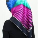 karışık renkli eşarp modeli