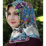 silk home desenli eşarp modeli