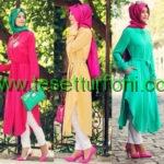 renkli yazlık tunik modelleri