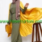 Everyday Basic Haki Dugme Detayli Elbise