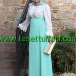 mint yesili elbise