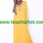 tek renk elbise safran everyday basic 192065 1 759x1024