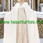 mislinas pelerinli abiye elbise