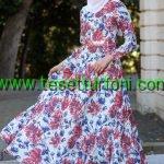 zernisan-cicek-desenli-kirmizi-elbise-2