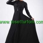 siyah tesettür elbise