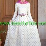 Beyaz Tesettur Elbise