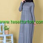 Cagla Yesili Tesettur Elbise