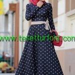 Kapali Bayan Elbise Modeli