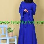 Mavi Tesettur Elbise