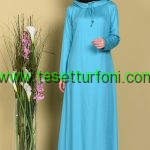 Mint Yesili Tesettur Elbise