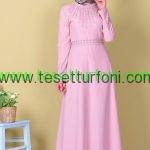 Pudra Tesettur Elbise