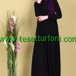 Siyah Yazlik Tesettur Elbise