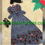Tesettur Gunluk Desenli Elbiseler