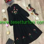 Siyah Nakisli Elbise