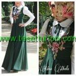 Zumrut Yesili Elbise